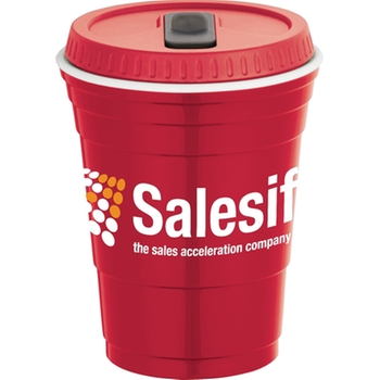 Стакан закрытый Red Solo Style Promotional Cup